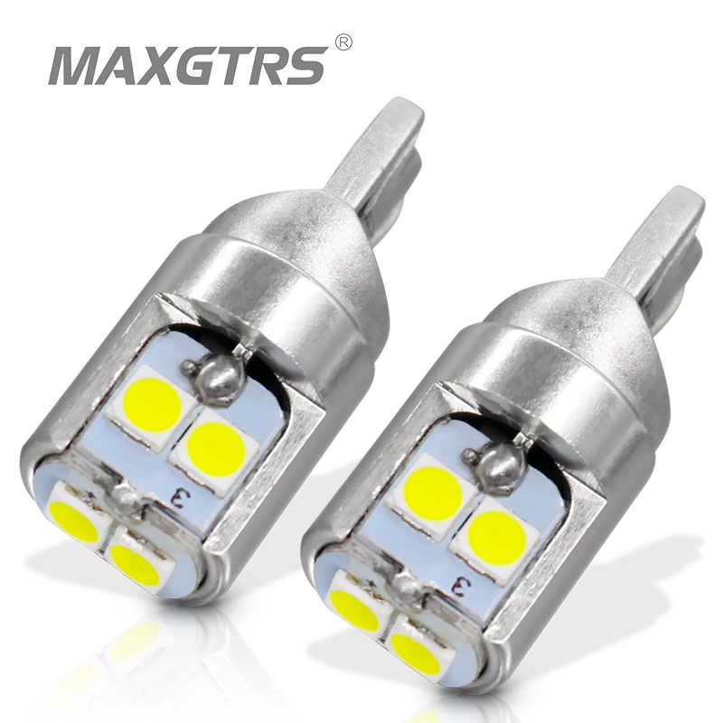 MAXGTRS 2x T10 LED W5W LED Bulb 194 168 3030 DRL Car Auto Sidemarker Parking Width Interior Dome Light Reading Lamp 12V