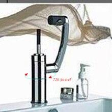 Бесплатная Доставка Удобный 360 Поворотный Кран Кухня Ванная Водопад Полированный Хром и ОРБ Закончил Смеситель Бассейна Раковина Кран