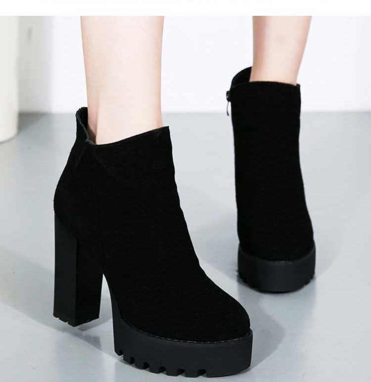 ФОТО Fashion Small Yardstick 33 Ultra High Heels Stiletto Boots Side Zipper Plus Size 40 43 High Leg Boots Sexy Women Boots S3868