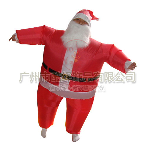 【SALE】 NEW SANTA CLAUS MASCOT COSTUME ADULT SIZE CHRISTMAS X/'MAS PARTY DRESS