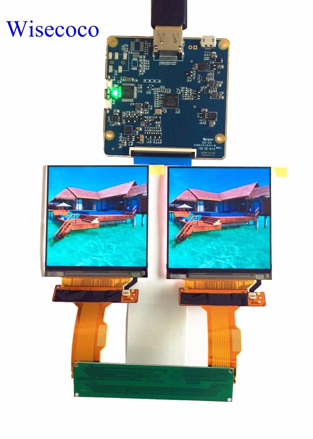 2 LS029B3SX02 2.9 polegada 1440*1440 k tela MIPI TFT LCD com HDMI para MIPI Dsi board driver para VR AR projeto