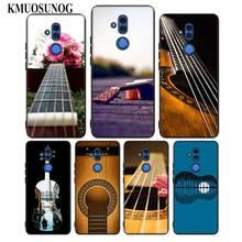 For Huawei Honor Mate 7C 7A 8 8X 9 9N 10 20 Nova 3 3e 3i  Pro Lite Black Silicon Phone Case Bass Guitar Strings Style for huawei honor mate 7c 7a 8 8x 9 9n 10 20 nova 3 3e 3i pro lite black silicon phone case adventure time style
