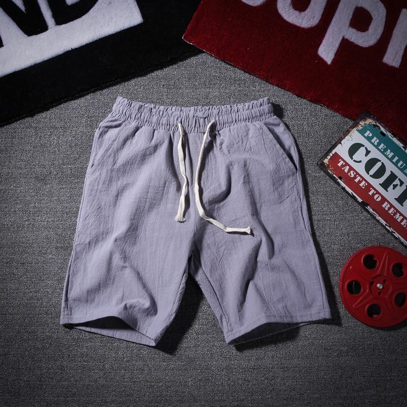 Mens Casual Cotton Linen Στερεό Χρώμα - Ανδρικός ρουχισμός - Φωτογραφία 2