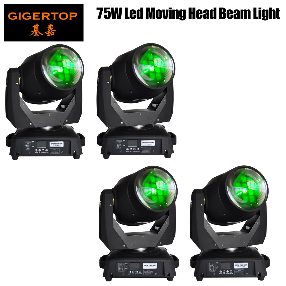 Gigertop New 75W Led Moving Head Beam Light Night Club/Theater Stage Backdrop Decoration Professional Factory x 4