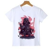 цена на New Brand Summer Kid's t shirt Casual Star Wars Boys/Girls/Baby T-Shirt Darth Face Print T Shirt Tees Hip Hop Top Clothing Z34-2