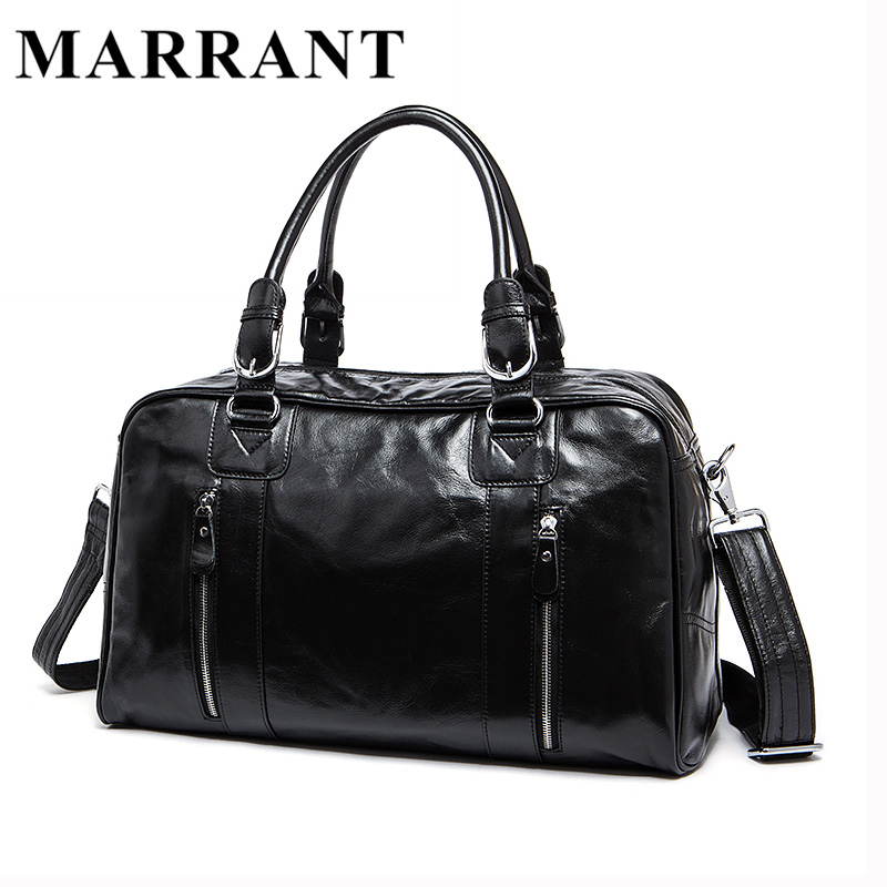 MARRANT Genuine leather Man Bag Leather Men's Large Travel Bags Vintage Language Handbag Male Crossbody Shoulder Bag 9048