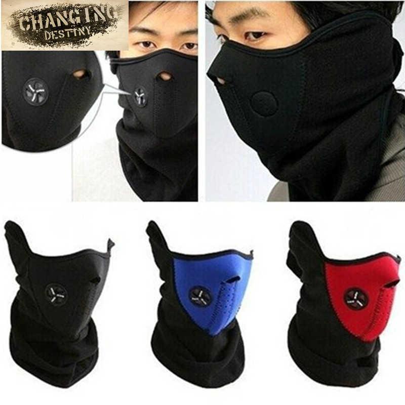2ffecbb1dc9 Thermal Neck Warmers Fleece Balaclavas Hat Headgear Winter Ski Masks Ear  Windproof Warm Face