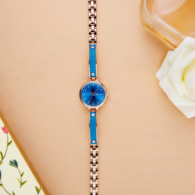 KIMIO Color Casual Small Ladies Wrist Watches Quartz Watch Women Alloy With Leather Bracelet Watches Women Fashion Watch 2018