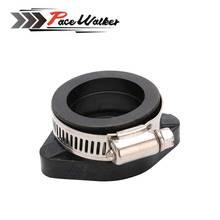 FREE SHIPPING Motorcycle Pit Dirt Bike Carburetor Rubber Adapter Inlet Intake Pipe For MIKUNI VM24 OKO KOSO KEIHIN PE28 28&30mm