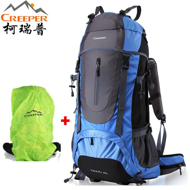 Creeper Hiking Backpack 60L Professional Waterproof Climbing Rucksack Camping Men Women Travel Bag Outdoor Tactical Sports Bag 60l outdoor camping men s military tactical backpack 1000d nylon for cycling hiking sports climbing bag