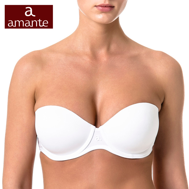 Woman's Bra Black Push-Up Cup Cotton Large Size Strapless Balconette 70 75 80 85 A B C D ARDI Amante Free Delivery N2020-07