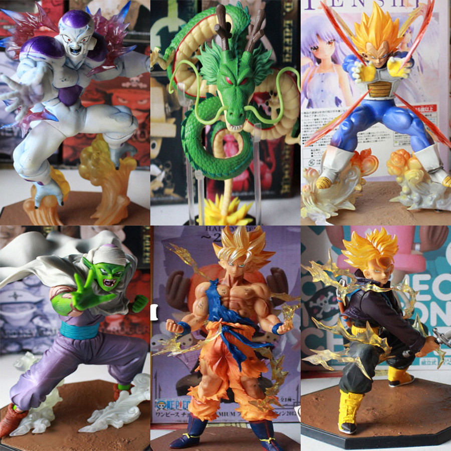 XIESPT Dragon Ball Z Figures Collectible Anime Dragon Ball PVC Action Figure Toys Model Super Saiyan Goku Frieza Figurines