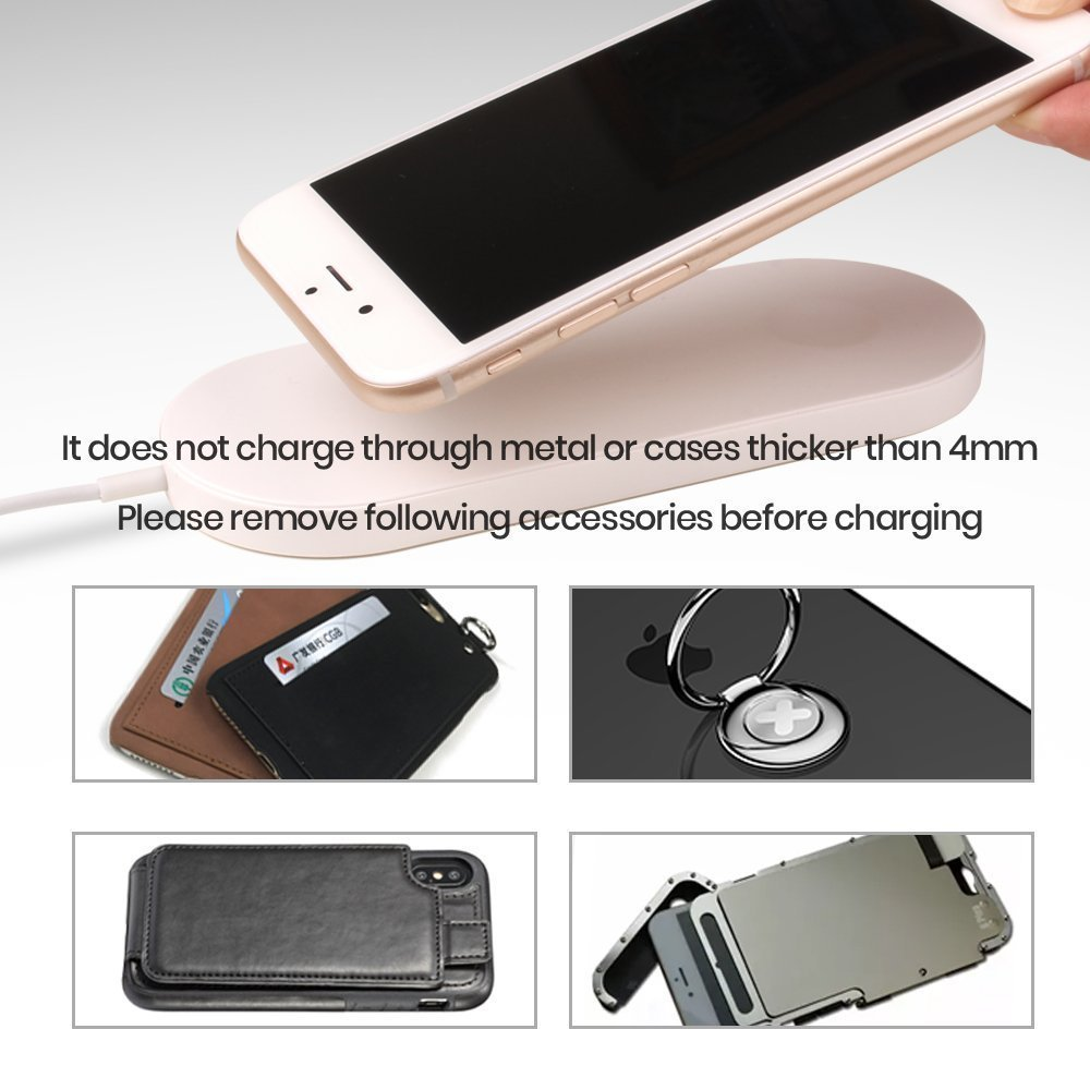 New Portable 2 in 1 Qi Standard Wireless Charger for iPhone X 8 Plus Apple Watch 3 Cordless Powerful Wireless Charging Pad Plate 14