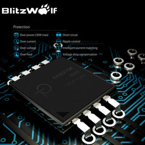 Image 2 - BlitzWolf QC3.0 USB מתאם נסיעות קיר האיחוד האירופי תקע מטען נייד טלפון מטען מהיר עבור iPhone 11X8 בתוספת עבור סמסונג Smartphone