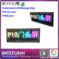 Rgb из светодиодов 16 * 96 пикселей программируемый из светодиодов сообщение знак с p10 из светодиодов модуль открытый бегущий текст из светодиодов рекламный щит