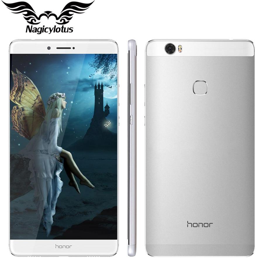 Original Huawei Honor NOTE 8 4G LTE 4GB 32GB 6.6 inch 2560*1440 Screen Octa Core 2.5GHz Metal Body 4500mAh Battery
