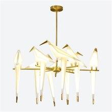 Modern Bird Acrylic LED Pendant Light Lighting Lamp Bedroom Living Room Hanging Luminaire Loft Kitchen Fixtures