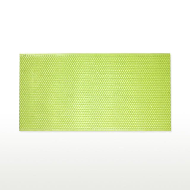 BEE.NO.1 20 PCS Plastic Beeswax Foundation Sheet Comb Fundation Sheet Pure Beeswax Green Glab Sets