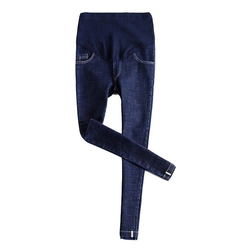 Весенне-осенние модные джинсы для беременных женщин эластичная резинка на талии джинсы беременность pantalon embarazada Одежда для беременных - Цвет: Синий