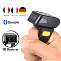 Free Shipping!Portable Wearable Ring Barcode Scanner 1D Reader  Mini Bluetooth Scanner 360mA battery