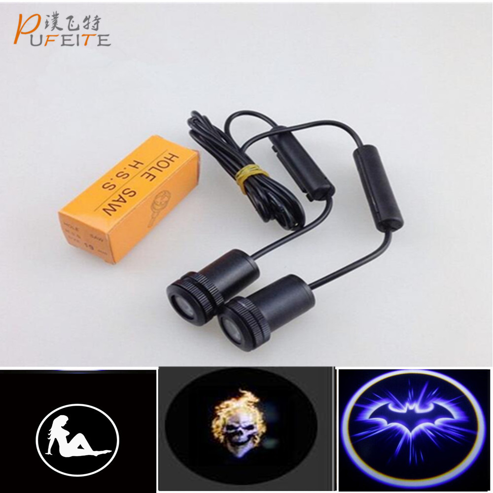 все цены на 2/PCS Super Brightness All Kind of Car light High Power Car Door Ghost Shadow LED Laser Projector logo for SAAB/Logo Lights
