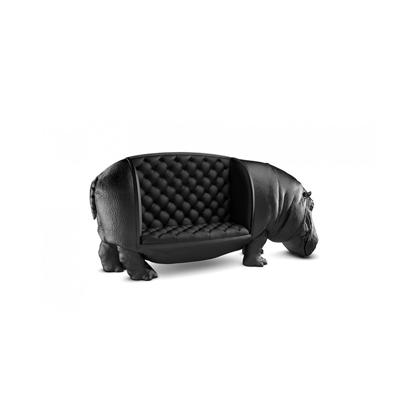 Life Sized Hippo Lounge Chair / Made Of Fiberglass / Custom Order Of Lion, Tiger Or Elephant Welcome