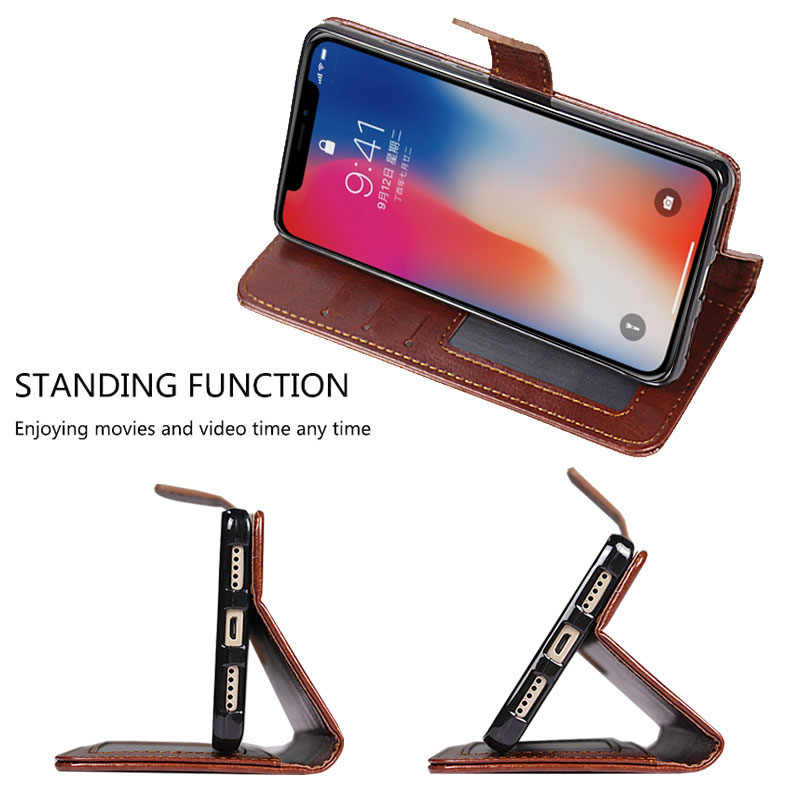 For Apple IPhone XS Max Case Flip Wallet Luxury PU Leather Case For IPhone XS Max Phone Cover Card Retro Photo Frame