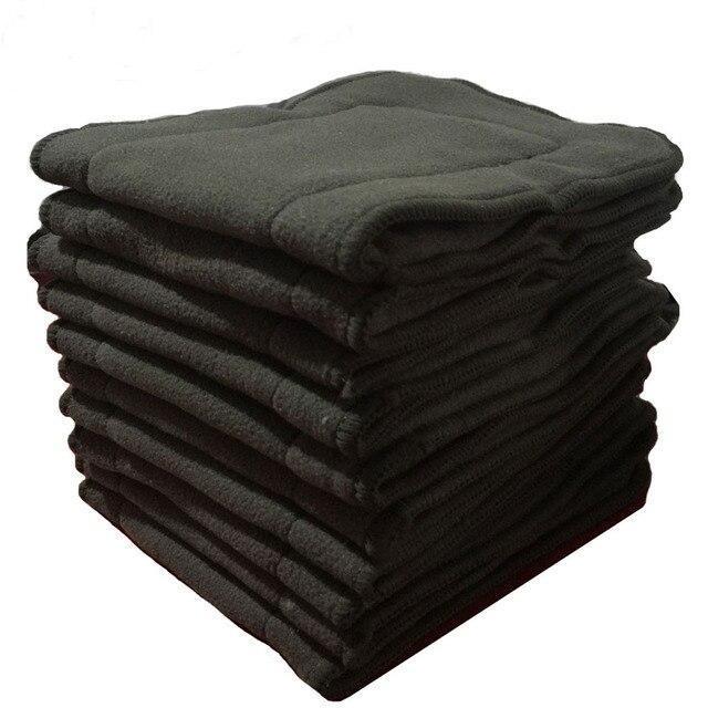 10 個布おむつインサート竹炭ベビーおむつインサートライナーソファ lavables 再利用可能なポケットおむつカバーインサート