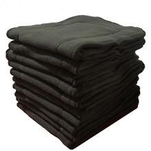 10 pçs pano fralda inserções de carvão de bambu bebê fraldas inserções forros sofás lavables reutilizável bolso fralda capa inserções
