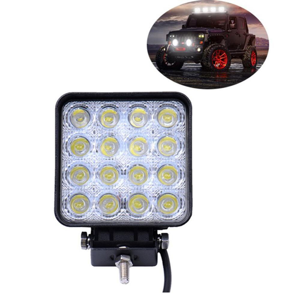 Car Light 48W 16 LED Work Lamp Light Bar Spot Offroad Tractor Car Boat Truck 12V 24V Light White/Amber Top Quality #0516