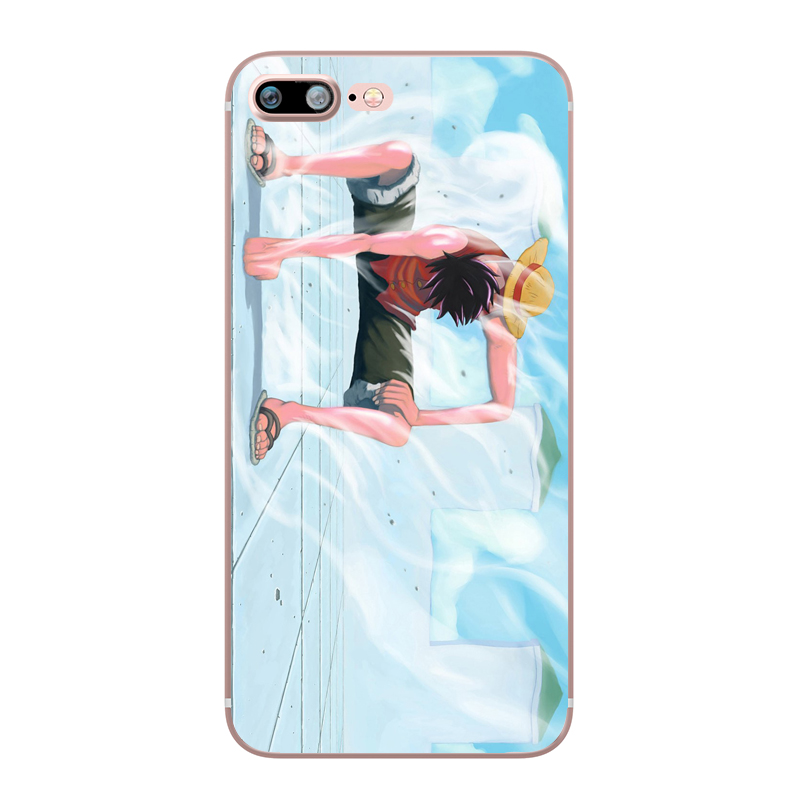ONE PIECE Phone Case Japanese Anime Luffy Zoro Coque for Apple iphone 7 8 plus 6S X 5 6 5S SE 6PLUS Silicone Soft Clear TPU Capa (11)