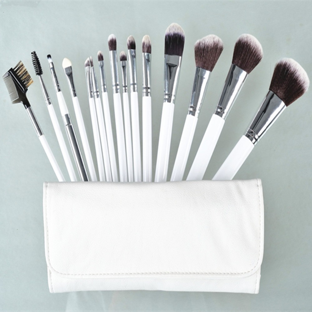 15pcs Makeup Brush Sets Goat Hair Cosmetics Brushes Eyebrow Eye Brow Powder Lipsticks Shadows Make Up Tool Kit Makeup Pouch Bag just make up сухая подводка brow powder 116 цвет 116 variant hex name 947962