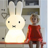 50CM Cartoon Dimmable Cute LED Rabbit Night Light Home Decoration Children's Bedroom Bedside Light Holiday Gifts Lamp