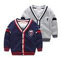 Una nueva ropa niños del otoño suéter cardigan tejido de punto suéter muchacho niño
