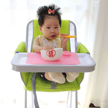 Silicon Magic Baby Bowl Sucker Place Mat Anti Slip Desk Mat for Child Dining On Table Tools for Baby Learning to Eat Foods(China)