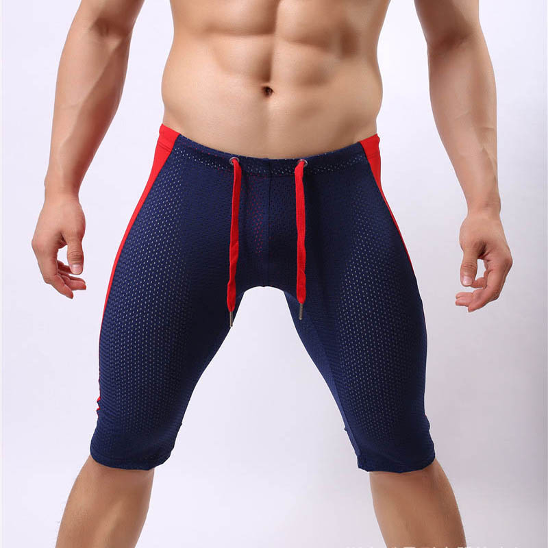 <font><b>2017</b></font> New arrival men's yoga shorts <font><b>high</b></font> quality comfortable shorts for men <font><b>sexy</b></font> breathable solid sports for men yoga gym image