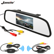 Jansite 4.3 pollici HD Car Rear View Monitor Parcheggio Specchio Wired Wireless 2 ingresso video Trasmettitore ricevitore Senza Fili di Visione Notturna