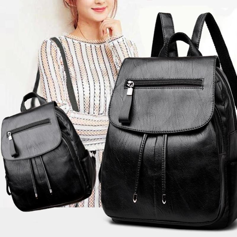 Mini PU Leather Shoulder Zipper Travel Backpack School Bags for Teenager  Girls Bags Women 2018 Mochila Feminina Sac a Dos Main 1b671a9341c14