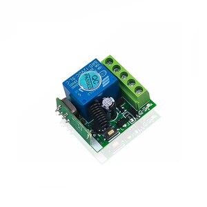 Image 4 - Kebidu 433 МГц беспроводной пульт дистанционного управления переключатель для обучения кода передатчик дистанционного управления 12 В постоянного тока 1 канал реле 433 МГц модуль приемника
