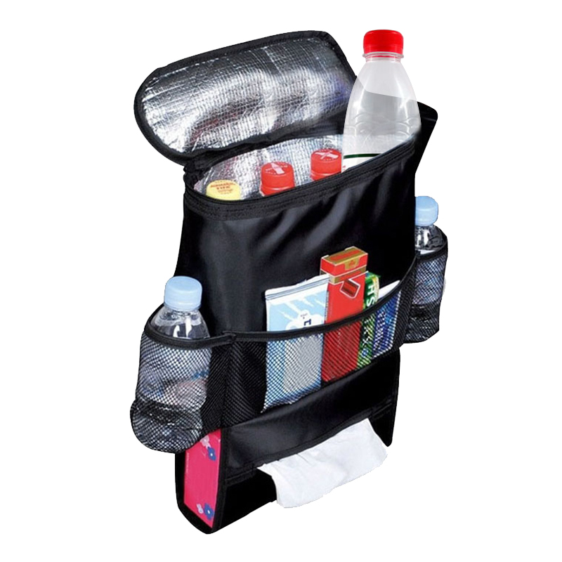 Black car insulated food storage bags organization auto for Auto interieur styling