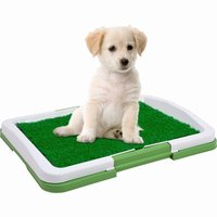 Indoor Dog Training Tray Cleaning Pet Dog Toliet Puppy Potty Pad Urinary Trainer Grass Mat