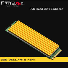 hot deal buy 70x22x5mm m.2 solid state heat sink radiator pcie ssd hard disk 2280 pure aluminum radiator fin vest pc cooling heatsink for ssd