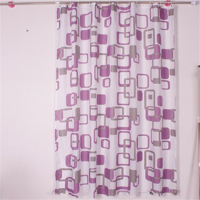 180180cm 71 Waterproof Mouldproof Purple Small Squares Polyester Bathroom Shower Curtain With Hooks In Curtains From Home Garden On