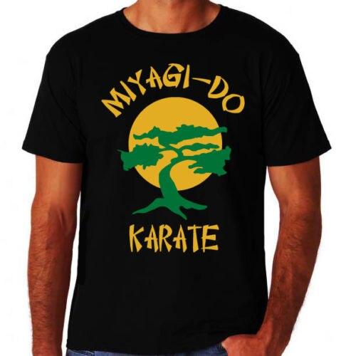 Каратэ-Пацан Мияги сделать 80-х вечерние боевик кунг-фу борьба gymer черная футболка ShirtShort рукавом Шея экипажа Мода