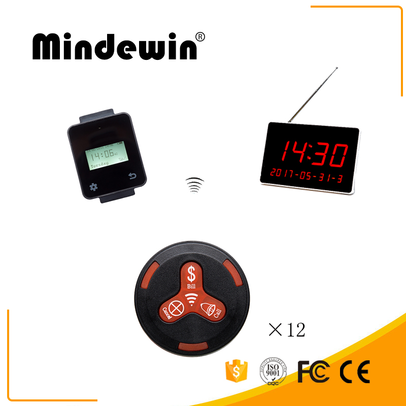 2018 Mindewin Call Transmitter Button Watch Receive Restaurant Pager Wireless Calling System Catering Equipment digital display2018 Mindewin Call Transmitter Button Watch Receive Restaurant Pager Wireless Calling System Catering Equipment digital display