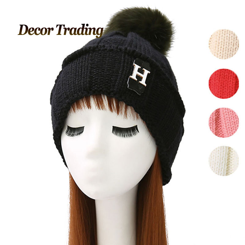 2016 NEW Velvet Knitted Hat Women Autumn Winter Hat For Women Hat Fashion Warm Skullies Beanies Female Cap Free Shipping