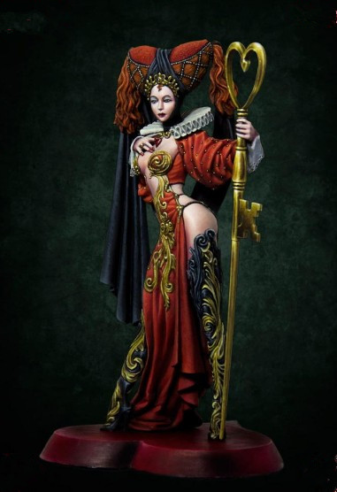 1/24 Scale 75MM Sexy Figure Rubina Queen Unpainted Miniatures Resin Model Kit Free Shipping