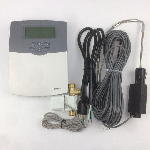 controlador solar aquecedor de agua fornecendo sr501 conectado com o tanque de agua ou baixa
