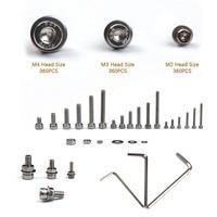 1080PCS M2/M3/M4 Stainless Steel Fastener Hardware Hexagon Socket Head Cap Screws Flat Washer Assorted kit +3PCS Nuts Wrench