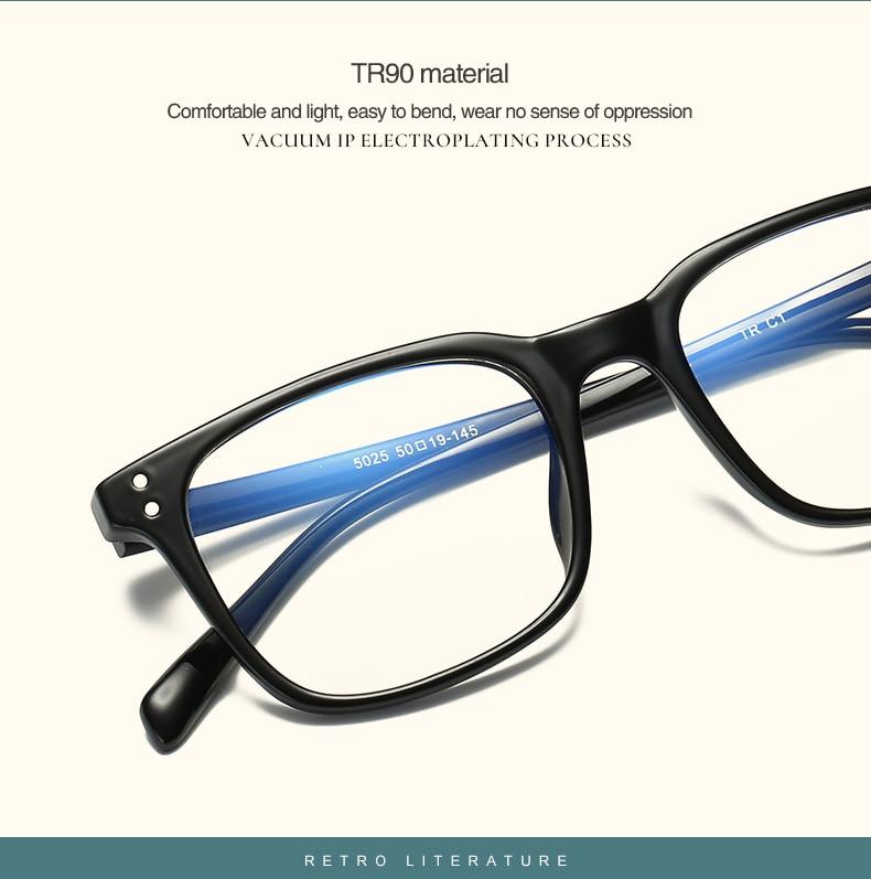 2018 Fashion Anti Blue Ray Designer Eyeglasses Rectangle Optical ...